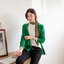 Seoul Fashion - V-Neck Colored Cardigan