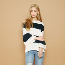 Envy Look - Kimono-Sleeve Striped Knit Top