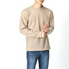 THE COVER - Round-Neck Waffle Top