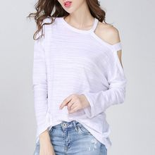 Isadora - Cutout Shoulder Long-Sleeve T-Shirt