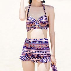 Sweet Splash - Set: Patterned Bikini + Cover-up