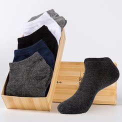 YiFFi - Set of 5 Pairs: Plain Low Socks