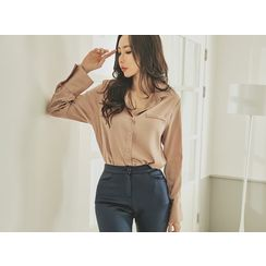 UUZONE - Flap-Detail Blouse