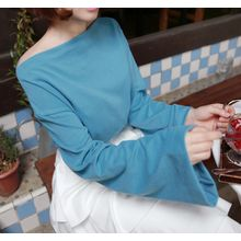 Miamasvin - Boat-Neck Bell-Sleeve T-Shirt
