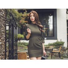 UUZONE - 3/4-Sleeve Sheath Dress