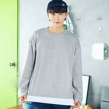 MEOSIDDA - Colored Layered-Hem T-Shirt
