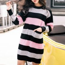 Isadora - Striped Long Sweater