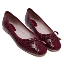 Monde - Bow Faux Leather Flats