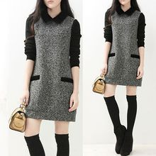 Sienne - Long Sleeve Collared Dress