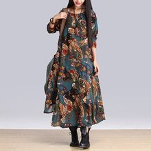 Splashmix - Long-Sleeve Printed Maxi Dress