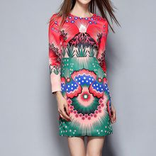 Merald - Print 3/4-Sleeve Dress