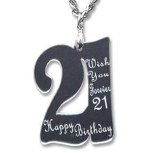 Sweet & Co. - Wish You Forever 21 Birthday Mirror Necklace