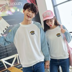Je T'aime - Couple Matching Color Block Sweatshirt