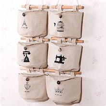 School Time - Linen Cotton Hanging Organizer