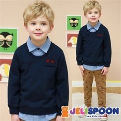 JELISPOON - Boys Set: Layered Sweatshirt + Pants
