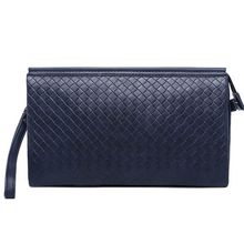 TESU - Woven Faux Leather Clutch