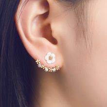 Kitty Kiss - 925 Sterling Silver Flower Ear Jacket