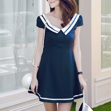 Queen Bee - Cap Sleeve Collared A-Line Dress