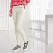 Styleberry - Band-Waist Brushed-Fleece Skinny Pants