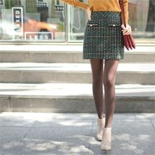 Styleberry - Button-Front Tweed Mini Skirt