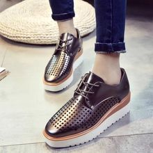 Laceuplux - Perforated Platform Oxfords