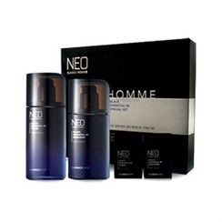 菲诗小铺 - Neo Classic Homme Black Essential 80 Set: Toner 130ml + 30ml + Emulsion 110ml + 30ml