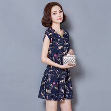 Shinbell - Floral Chiffon Dress