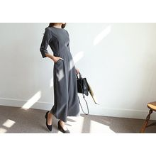 Hello sweety - 3/4-Sleeve Wide-Leg Jumpsuit