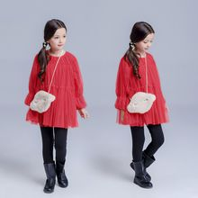 Kidora - Kids Long-Sleeve Pleated Dress