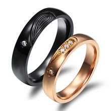 Tenri - Couple Matching Rhinestone Ring