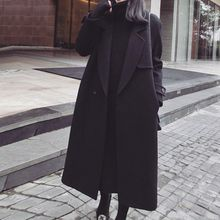 Lavogo - Plain Woolen Lapel Coat