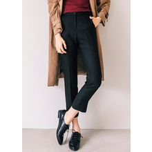J-ANN - Slim-Fit Flat-Front Pants