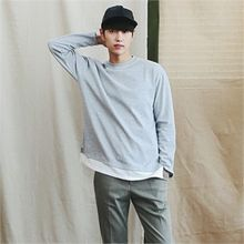 MITOSHOP - Mock Two-Piece Crewneck T-Shirt