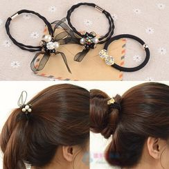 Diva Rama - Pearl Ribbon Hair Tie