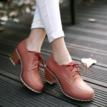 Blingon - Block Heel Oxfords