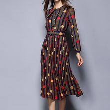 Merald - Dotted Long-Sleeve Dress