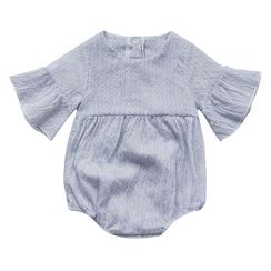 MOM Kiss - Baby Pinstriped Bodysuit