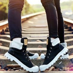 COUSO - High-top Canvas Short Boots