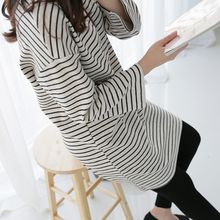 CLICK - Round-Neck Striped Dress