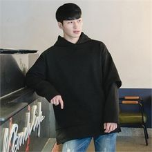 STYLEMAN - Layered-Sleeve Colored Hoodie