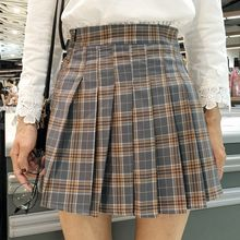 Dute - Plaid Pleated Skirt