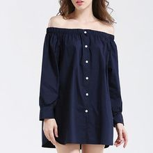 Isadora - Off-Shoulder Long Shirt