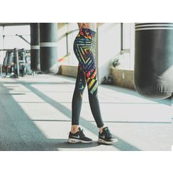 UUZONE - Geometric Printed Yoga Pants
