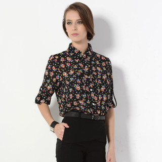 59 Seconds - Floral Chiffon Shirt