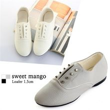 SWEET MANGO - Studded Oxford Flats