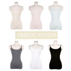 chuu - Colored Slim-Fit Camisole Top