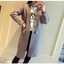 Lucy Girl - Plain Long Knit Jacket