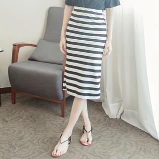 Tokyo Fashion - Striped Long Skirt