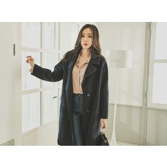 UUZONE - Single-Breasted Notched-Lapel Coat