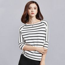 Sentubila - Stripe 3/4-Sleeve T-Shirt